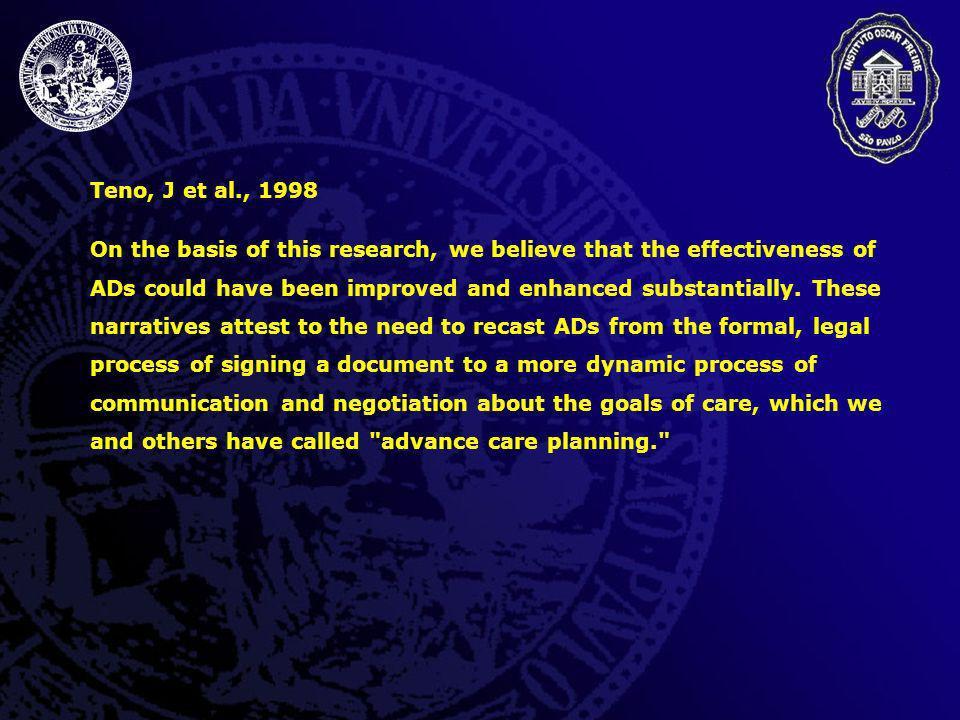 Teno, J et al., 1998