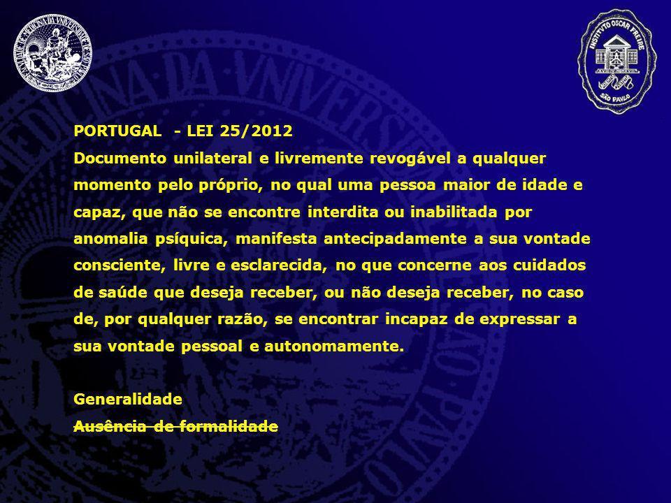 PORTUGAL - LEI 25/2012