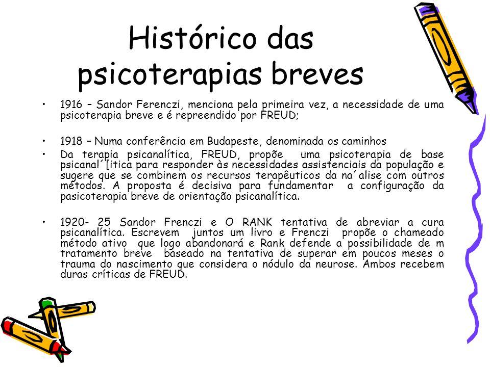 Histórico das psicoterapias breves