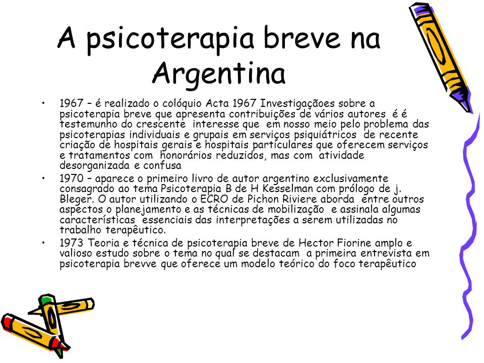 A psicoterapia breve na Argentina