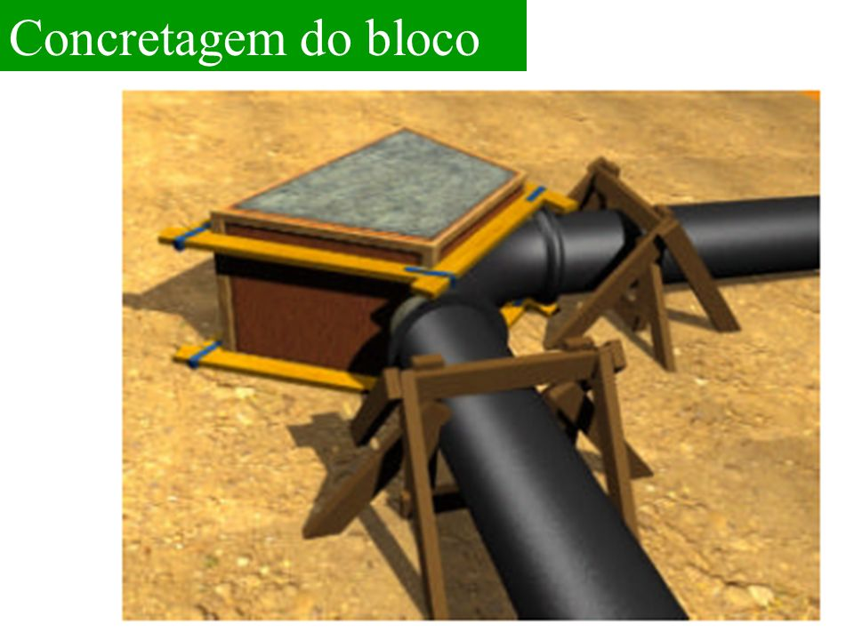 Concretagem do bloco