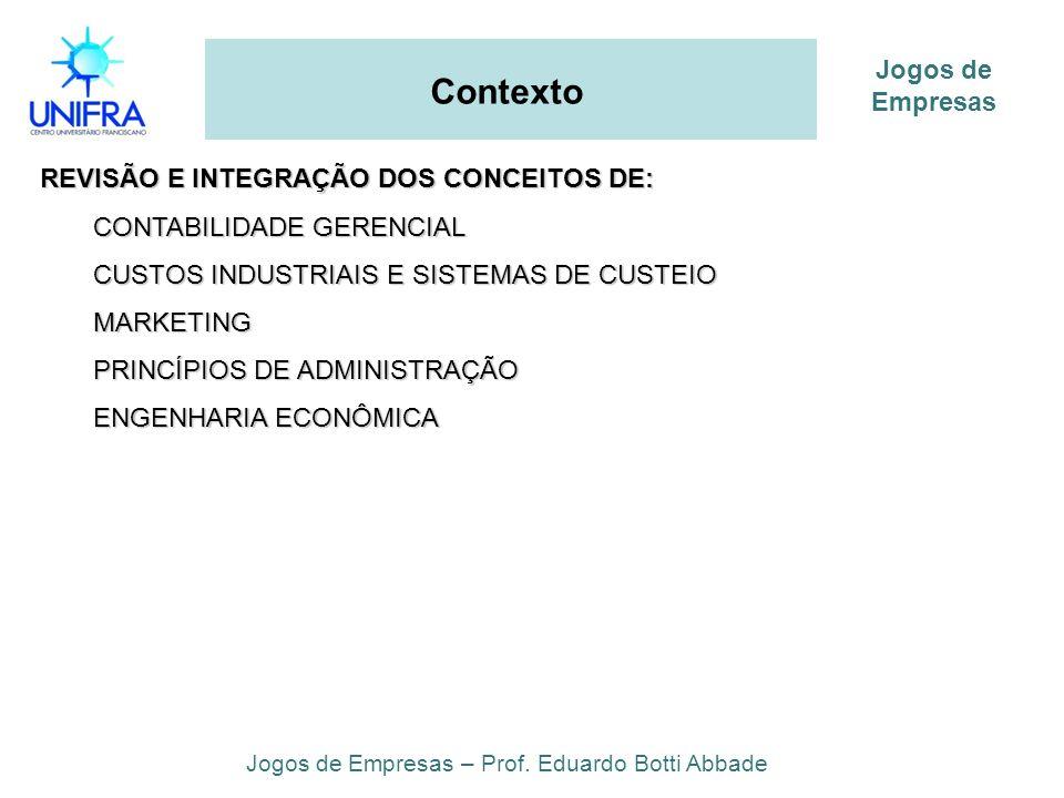 Jogos de Empresas – Prof. Eduardo Botti Abbade