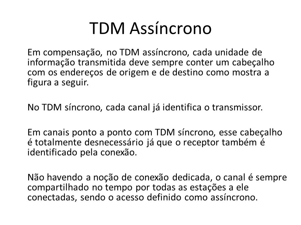 TDM Assíncrono