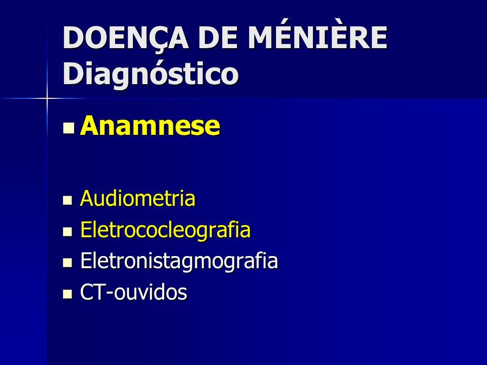 DOENÇA DE MÉNIÈRE Diagnóstico