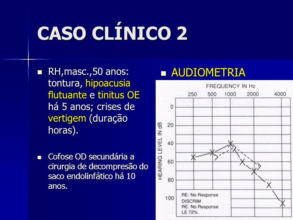CASO CLÍNICO 2 AUDIOMETRIA