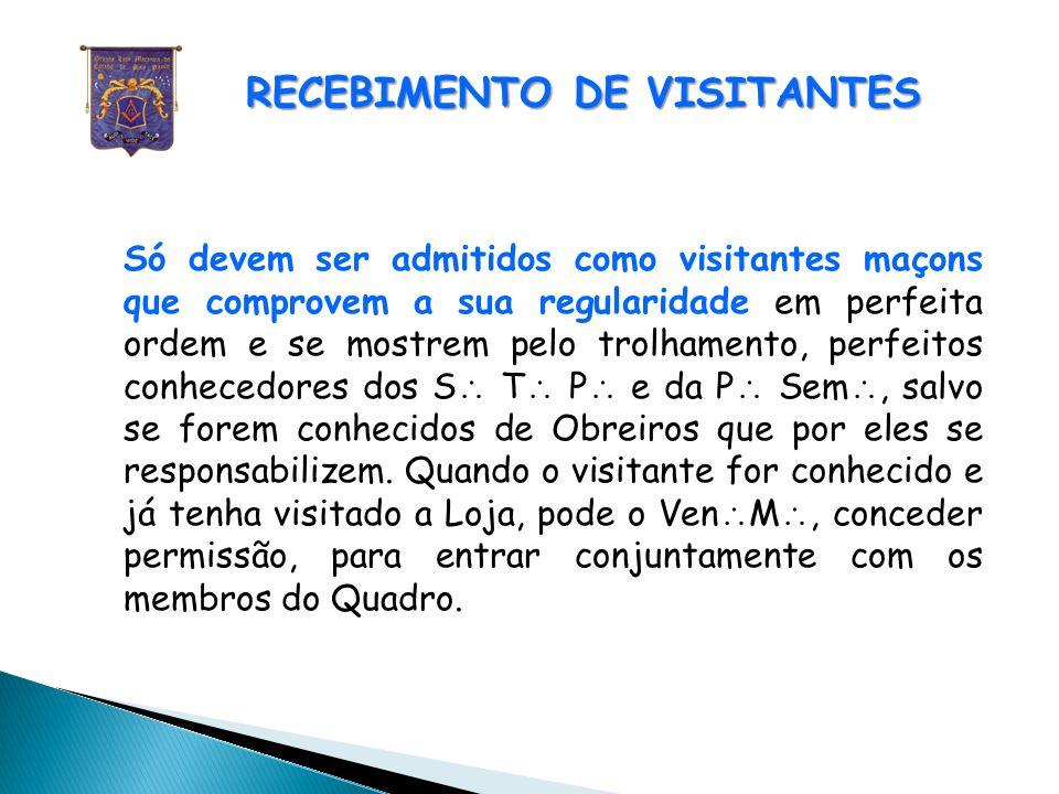 RECEBIMENTO DE VISITANTES