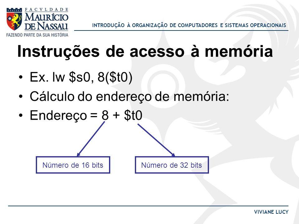 Instruções de acesso à memória