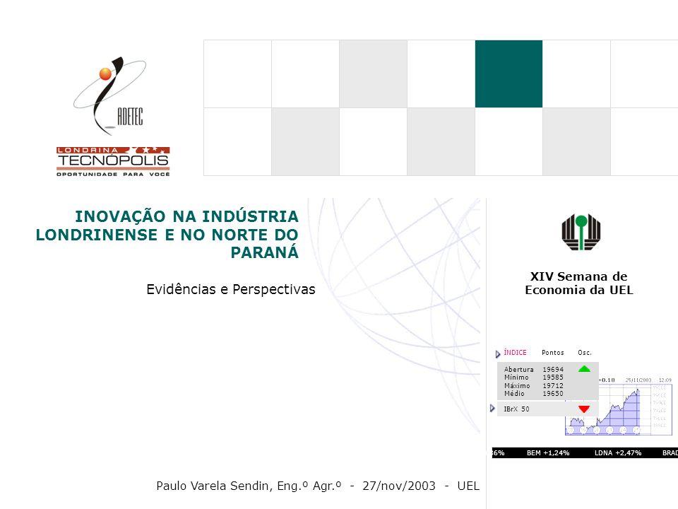 INOVAÇÃO NA INDÚSTRIA LONDRINENSE E NO NORTE DO PARANÁ