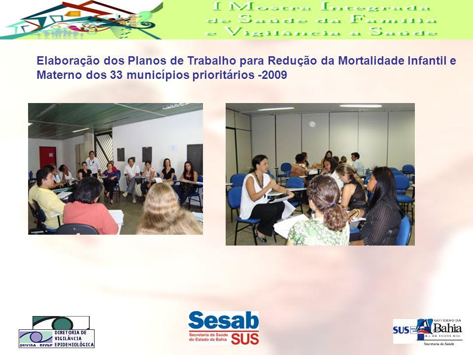 Elaboração dos Planos de Trabalho para Redução da Mortalidade Infantil e Materno dos 33 municípios prioritários -2009