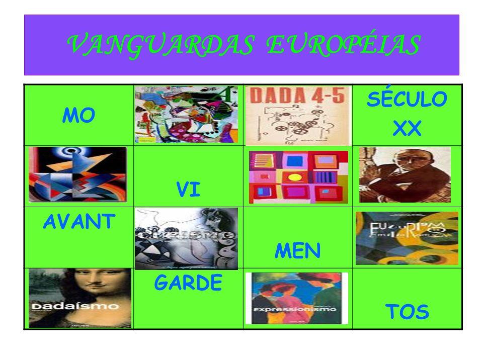 VANGUARDAS EUROPÉIAS MO SÉCULO XX VI AVANT MEN GARDE TOS