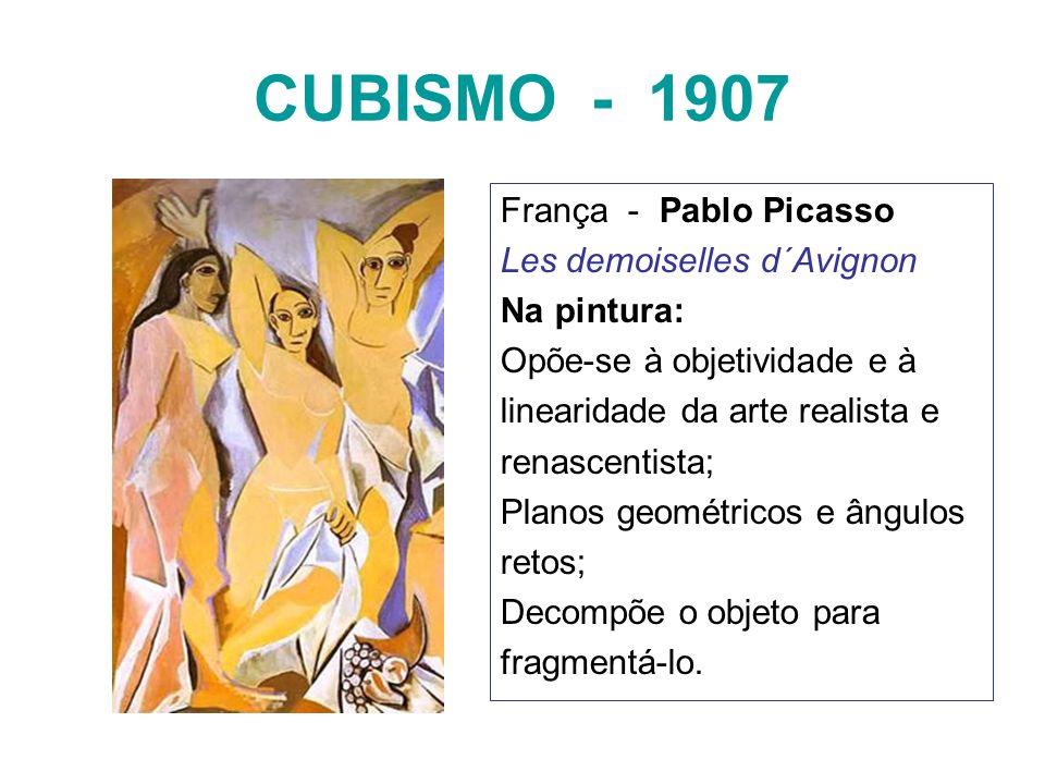 CUBISMO - 1907 França - Pablo Picasso Les demoiselles d´Avignon