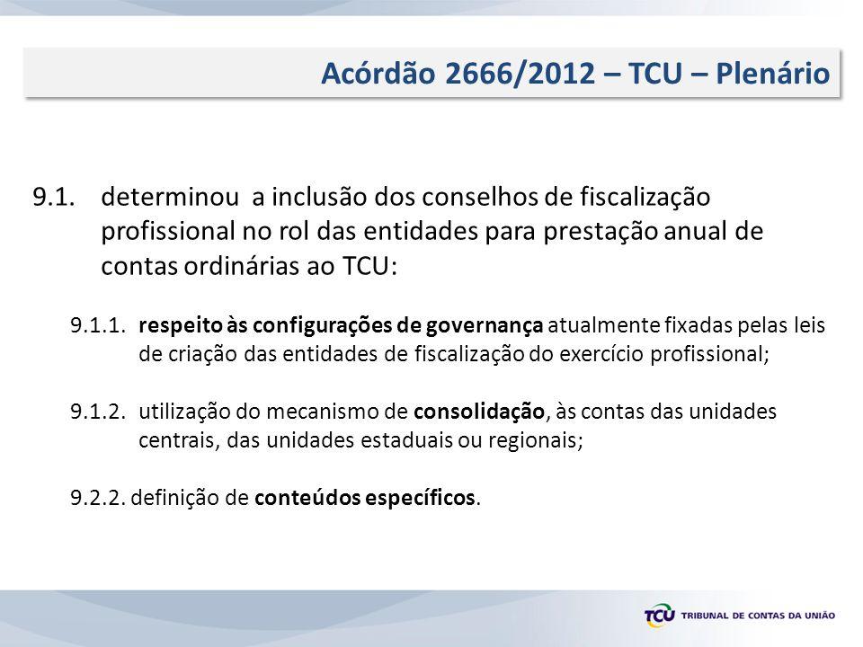 Acórdão 2666/2012 – TCU – Plenário