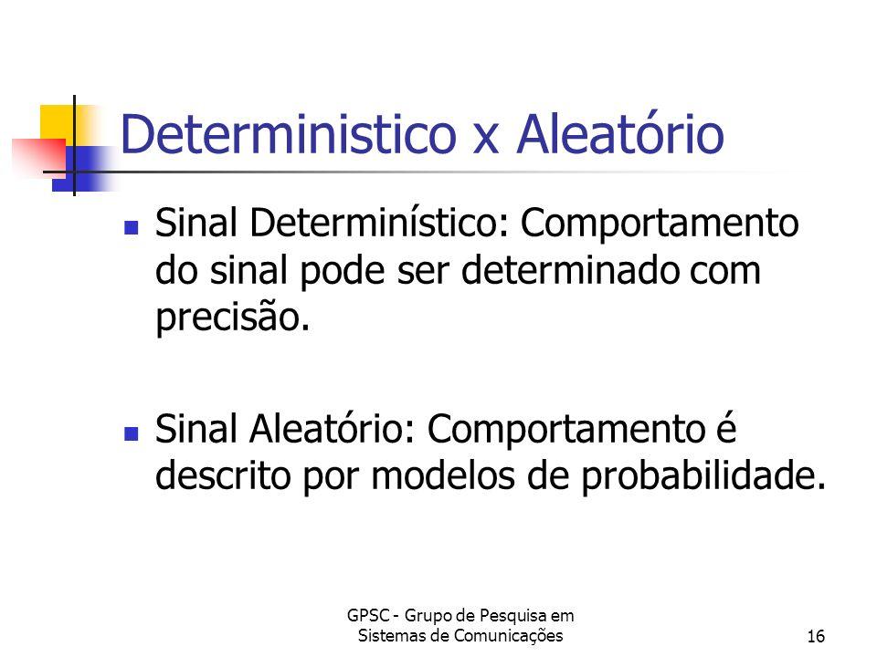 Deterministico x Aleatório