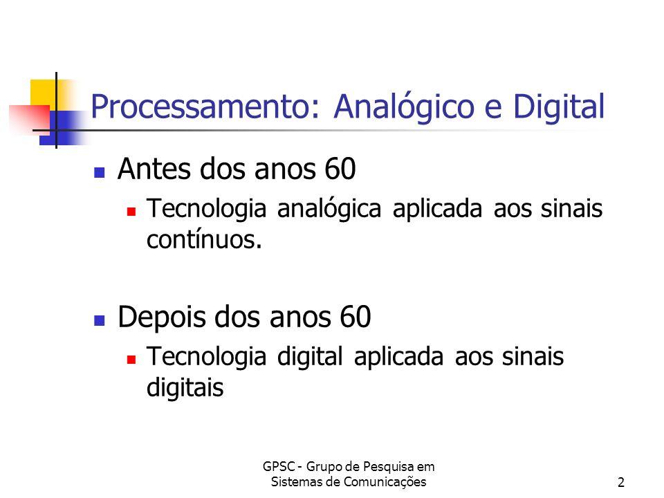 Processamento: Analógico e Digital