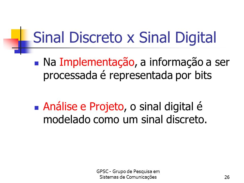 Sinal Discreto x Sinal Digital