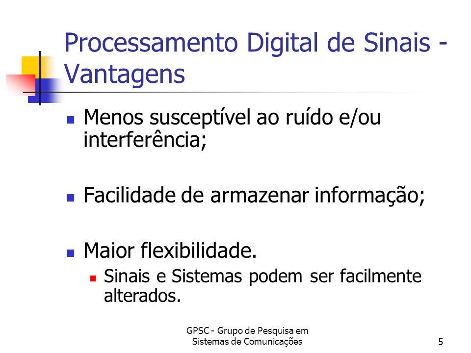 Processamento Digital de Sinais - Vantagens