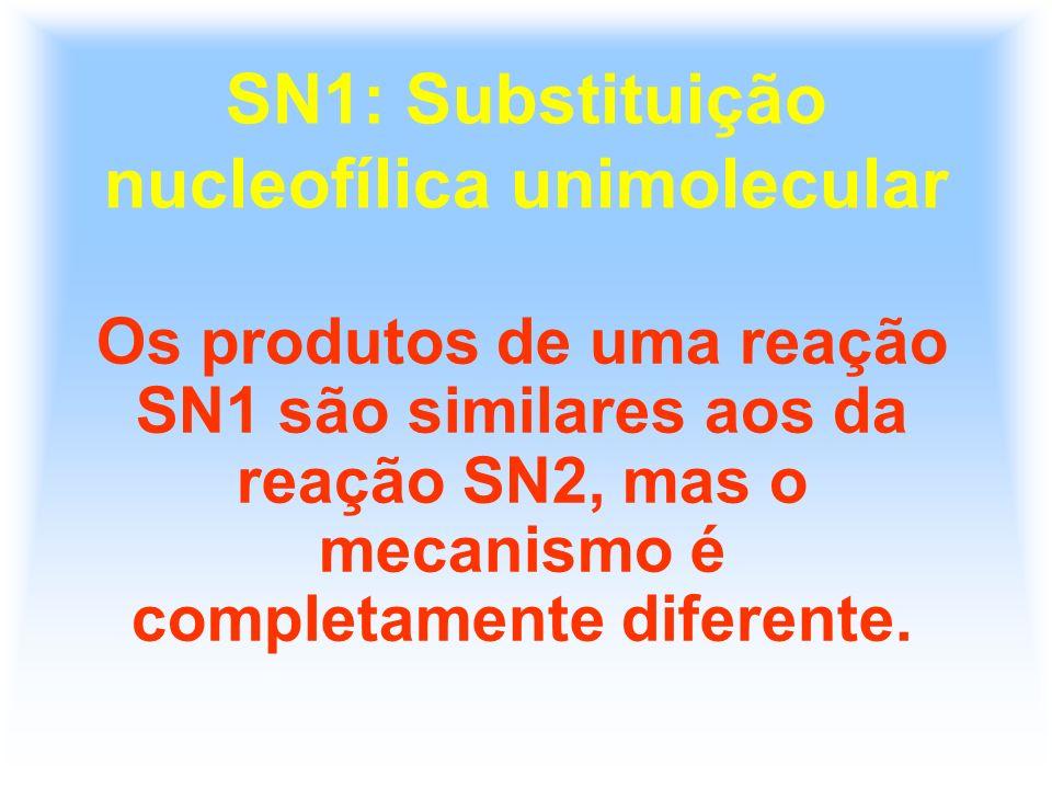 SN1: Substituição nucleofílica unimolecular