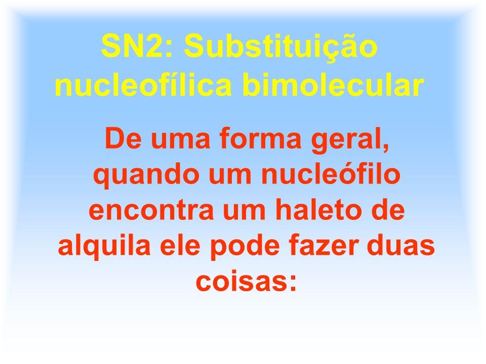 SN2: Substituição nucleofílica bimolecular