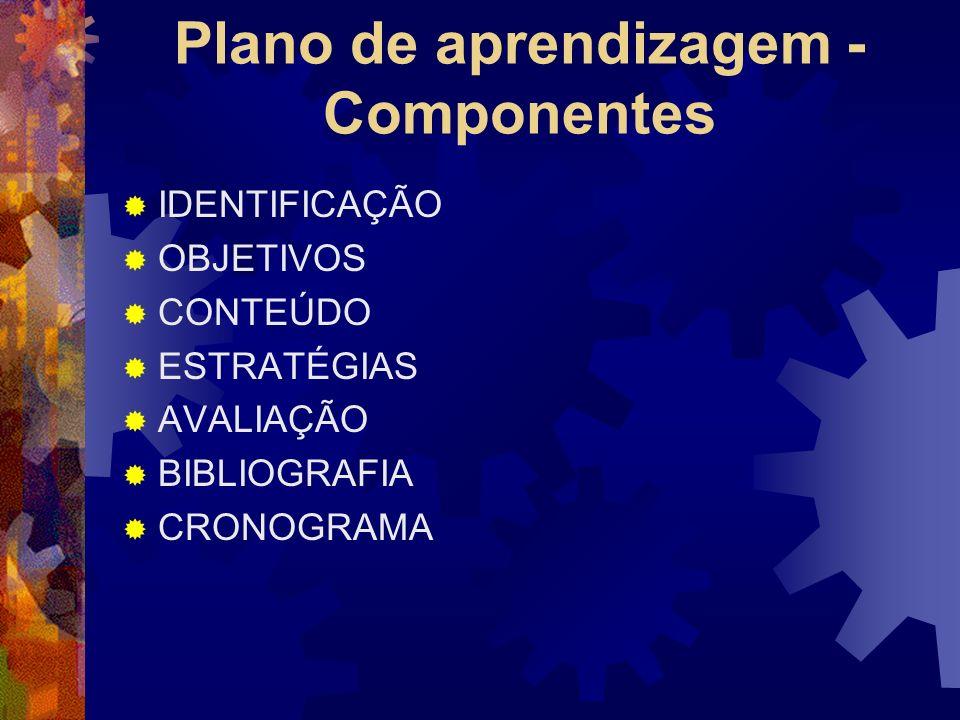 Plano de aprendizagem - Componentes