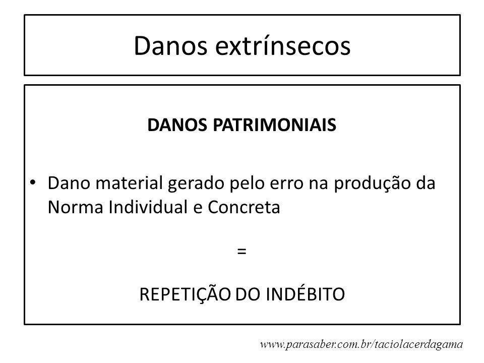 Danos extrínsecos DANOS PATRIMONIAIS