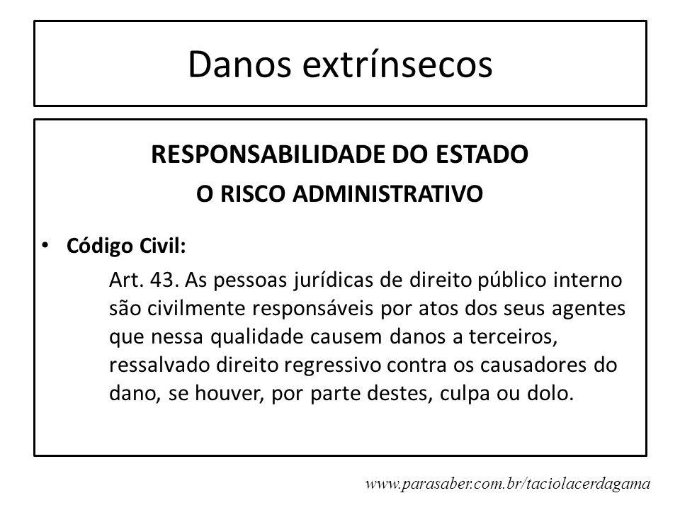 RESPONSABILIDADE DO ESTADO O RISCO ADMINISTRATIVO
