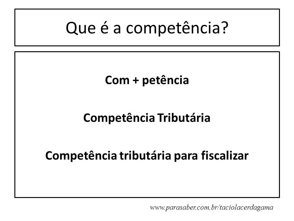 Que é a competência.