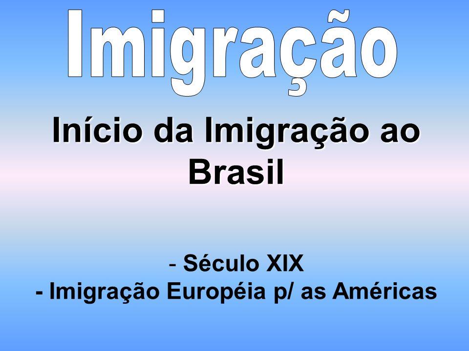 Início da Imigração ao Brasil