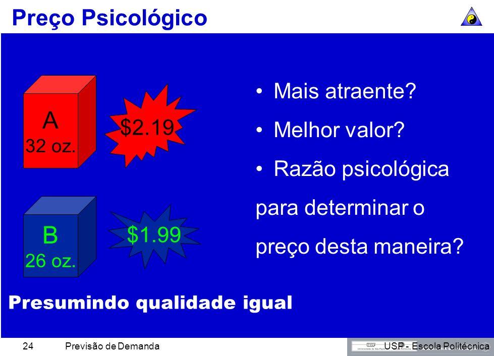 A B Preço Psicológico Mais atraente Melhor valor $2.19