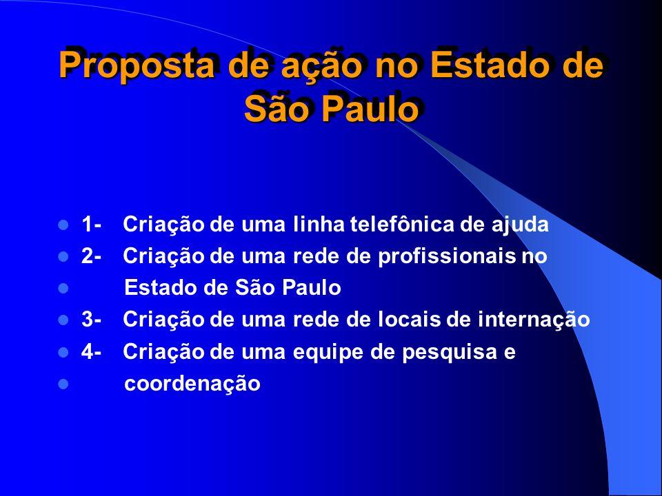 Proposta de ação no Estado de São Paulo