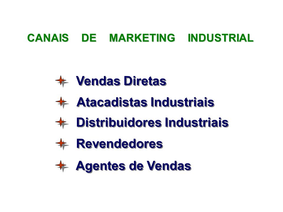 CANAIS DE MARKETING INDUSTRIAL Atacadistas Industriais