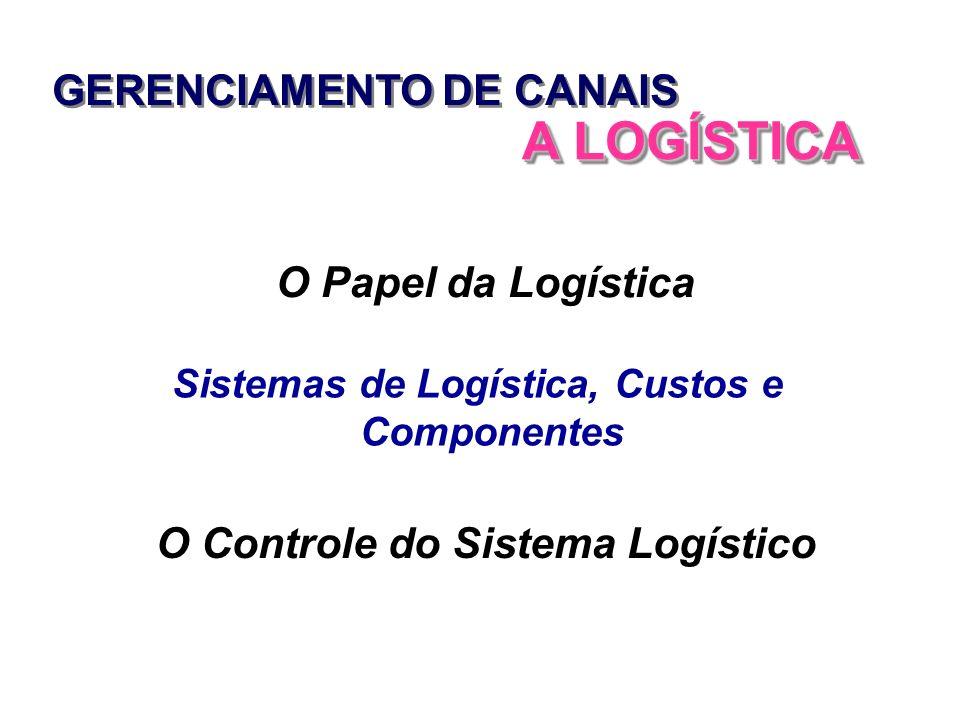 A LOGÍSTICA GERENCIAMENTO DE CANAIS O Papel da Logística