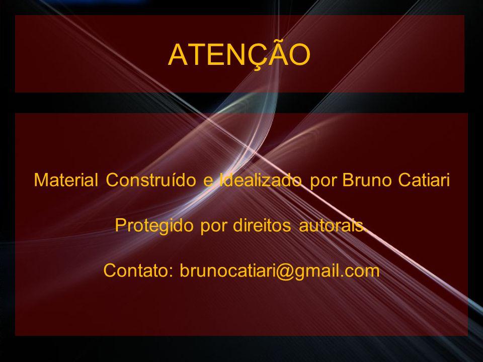 ATENÇÃO Material Construído e Idealizado por Bruno Catiari