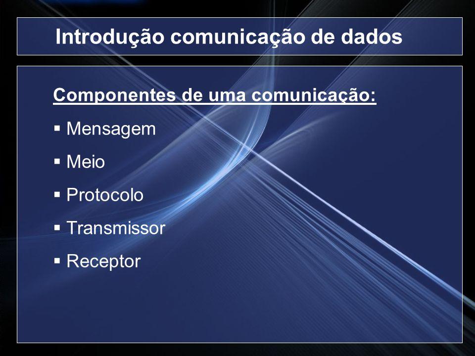 Introdução comunicação de dados