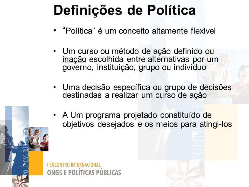 Definições de Política
