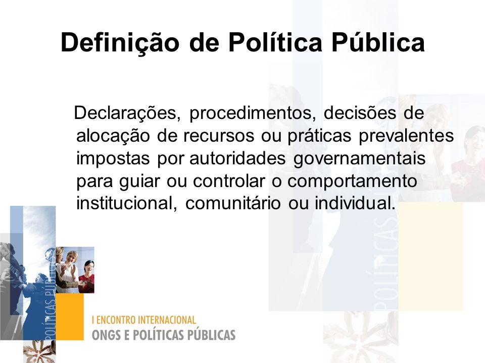 Definição de Política Pública