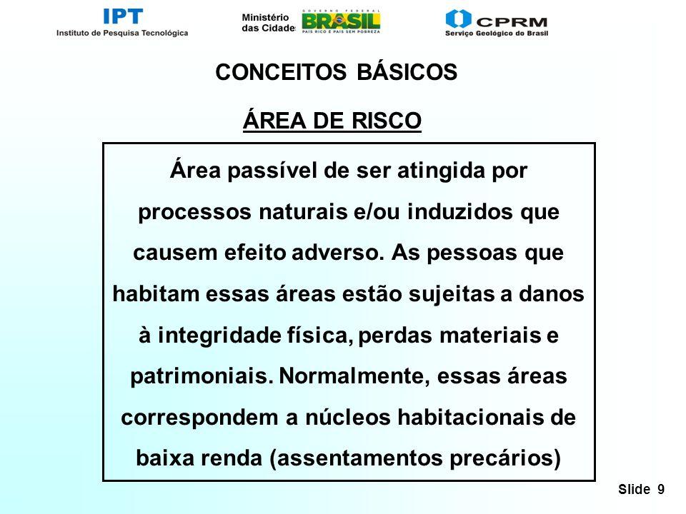 CONCEITOS BÁSICOS ÁREA DE RISCO.