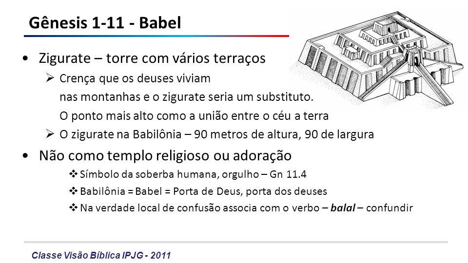 Gênesis 1-11 - Babel Zigurate – torre com vários terraços