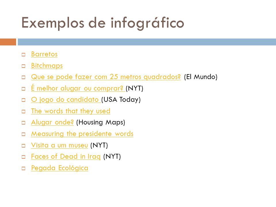 Exemplos de infográfico