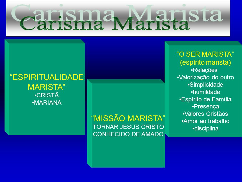 Carisma Marista ESPIRITUALIDADE MARISTA MISSÃO MARISTA