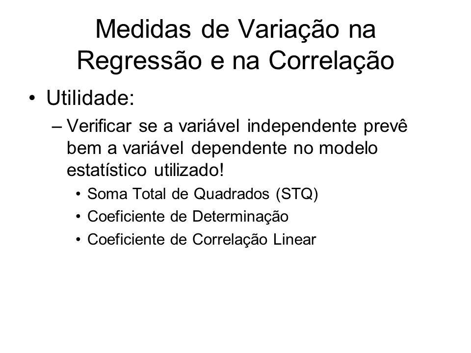 Medidas de Variação na Regressão e na Correlação