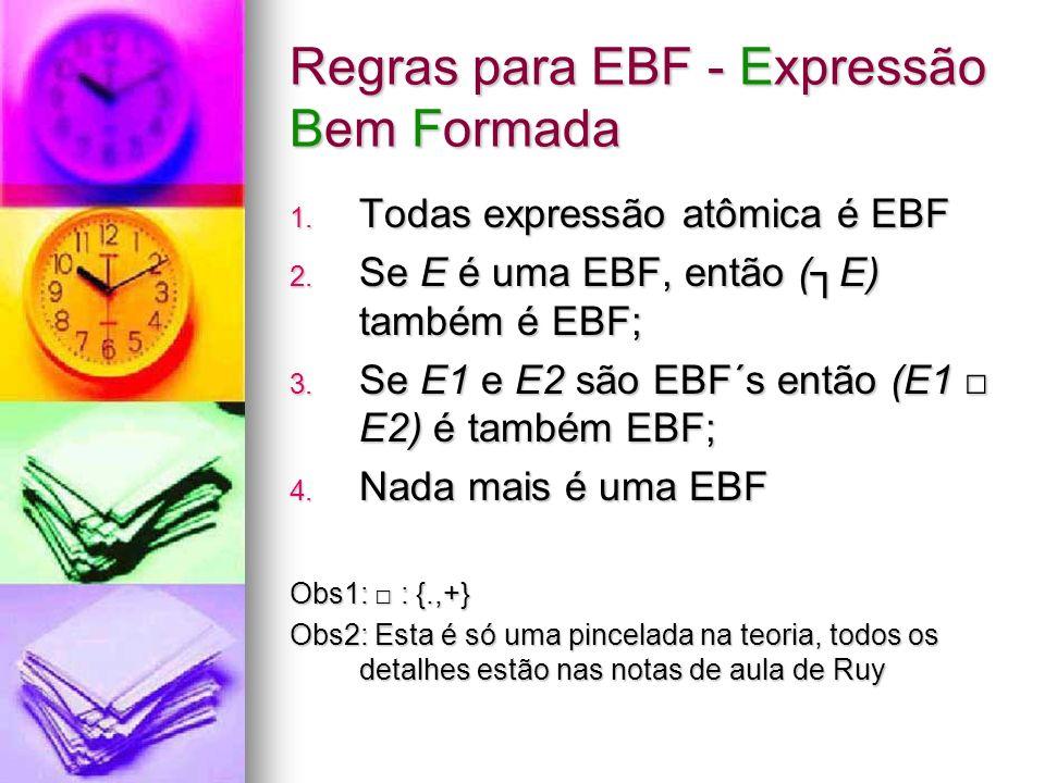 Regras para EBF - Expressão Bem Formada