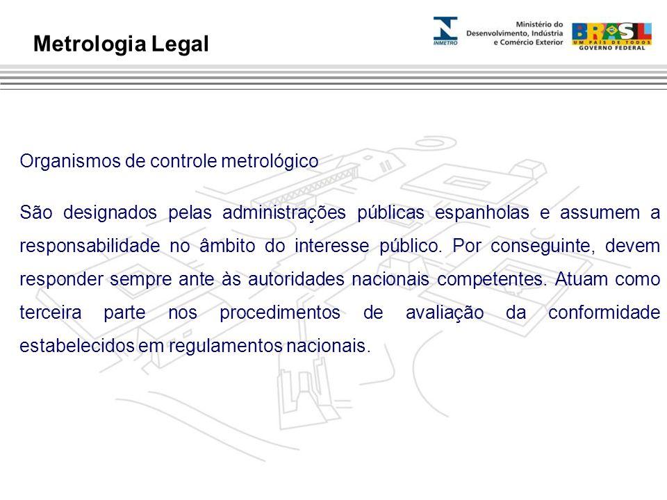 Metrologia Legal Organismos de controle metrológico