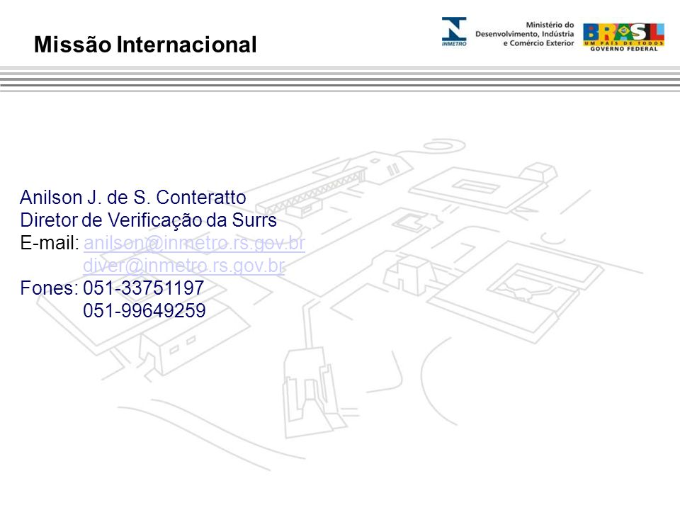 Missão Internacional Anilson J. de S. Conteratto