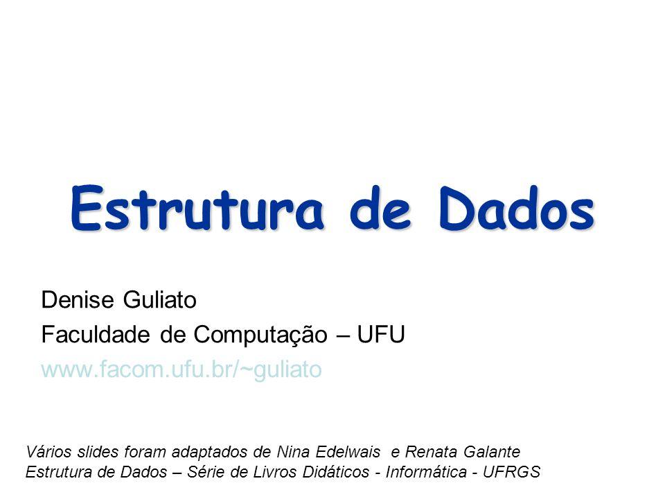 Denise Guliato Faculdade de Computação – UFU www.facom.ufu.br/~guliato