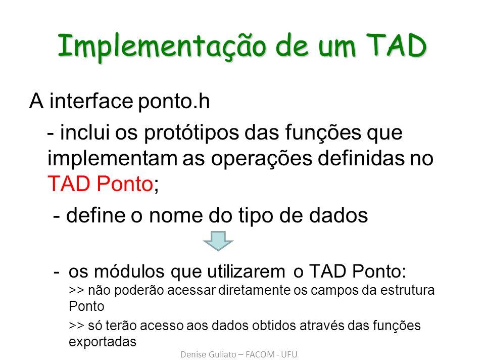 Implementação de um TAD