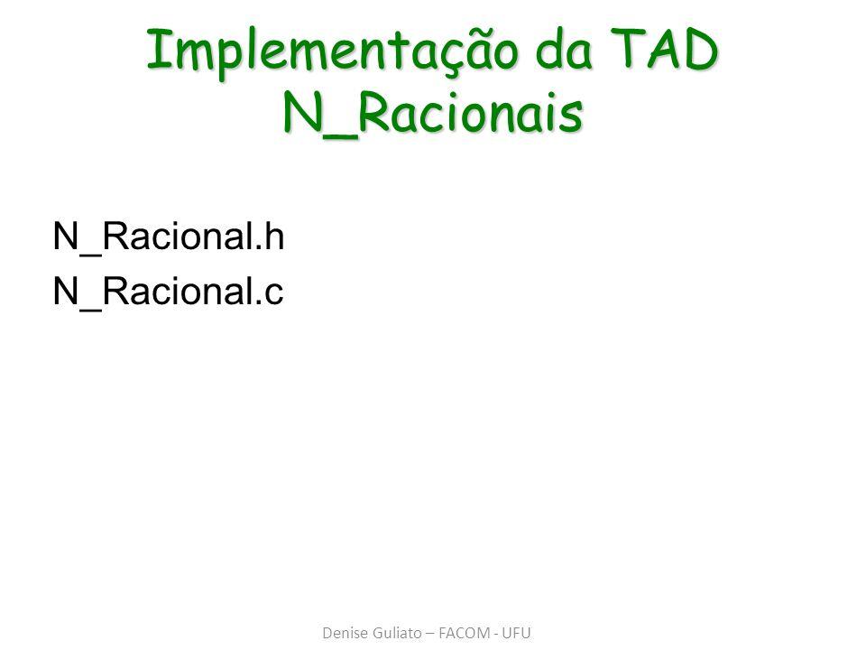 Implementação da TAD N_Racionais