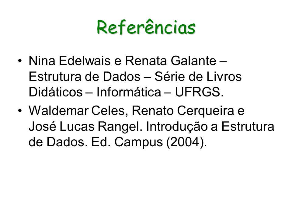 ReferênciasNina Edelwais e Renata Galante – Estrutura de Dados – Série de Livros Didáticos – Informática – UFRGS.