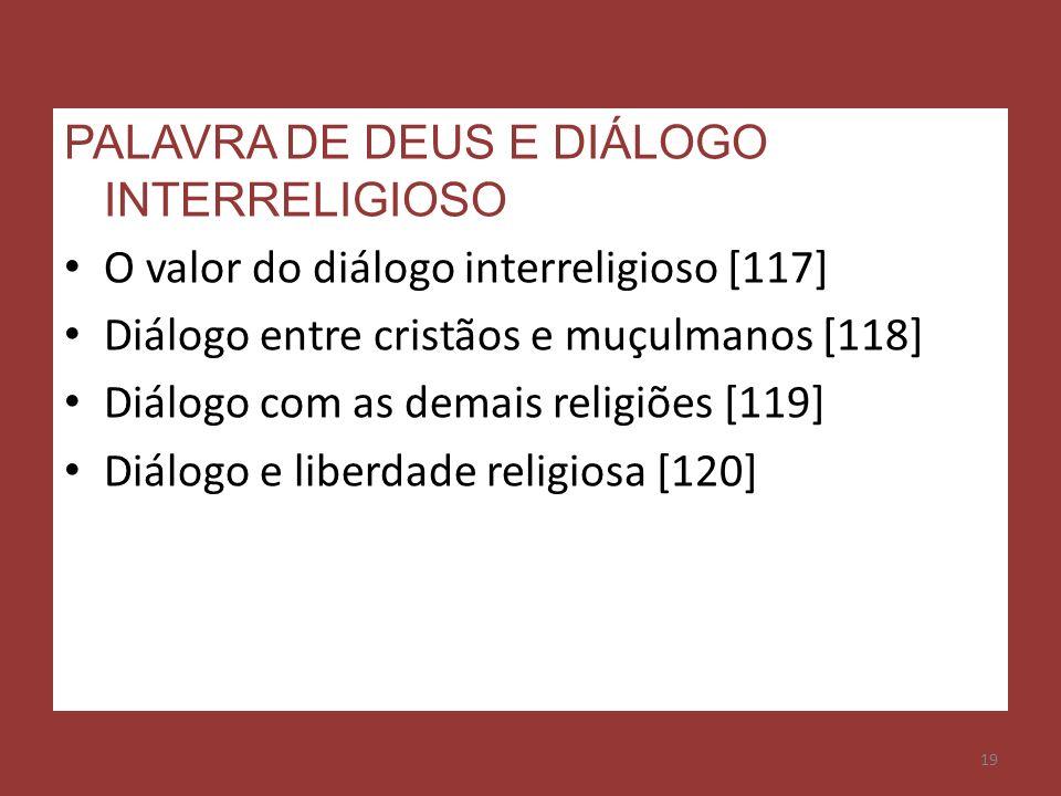 PALAVRA DE DEUS E DIÁLOGO INTERRELIGIOSO