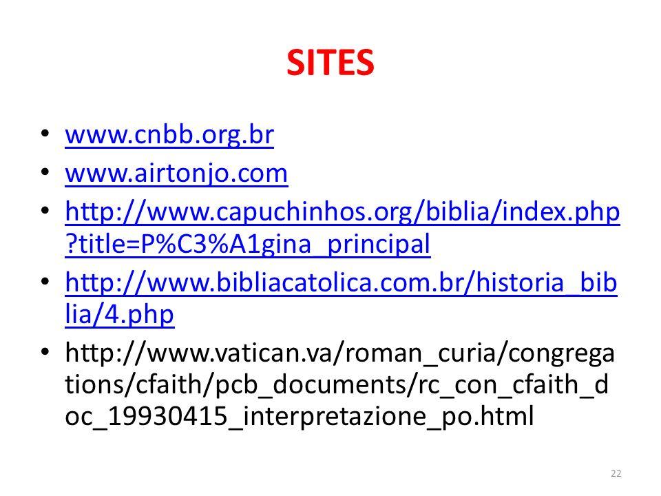 SITES www.cnbb.org.br www.airtonjo.com