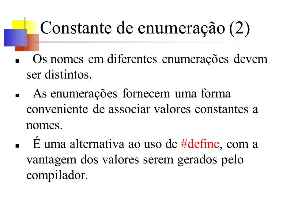 Constante de enumeração (2)